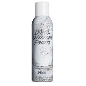 AWESOME! VS PINK DISCO SHIMMER BODY FOAM BIG NWT